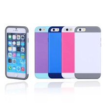 China wholesale shock proof design solid color Silicone+PC mobile phone cover