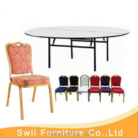 portable plastic folding table used hotel banquet table and chairs
