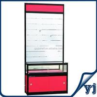 Aluminium Frame Glass Showcase/Titanium Alloy Glass Display Showcase/Aluminium Slat Wall Showcase with Slot Back