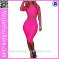 venta al por mayor venta superior de color rosa singular strench bodycon formal vestido