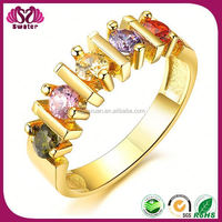 Bar Setting IP Gold Colorful Design Ring Adjuster