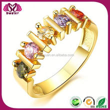 Bar Setting IP Gold Colorful Design Ring Adjuster