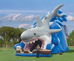 Giant inflatable shark, water slide inflatables