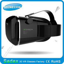 VR Shinecon high quality vr 3d glasses virtual reality 3d glasses cheap price HMD 3d vr headsets with rohs certificate