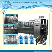 A quality PET bottle three in one 5 gallon water filling plant