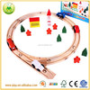 2014 new arrival wooden train track construction toys for kids