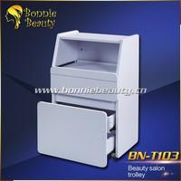 White wooden beauty salon drawer trolley BN-T103