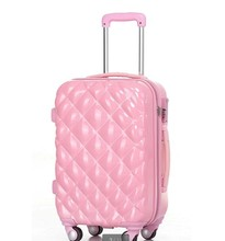 Cute Girls Pink Color Wheeled Trolley Luggage Hard Trolley Suitcase