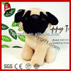 2014 promotion gifts plush animal toy stuffed brown and black dog cute small sha pi dog soft toy