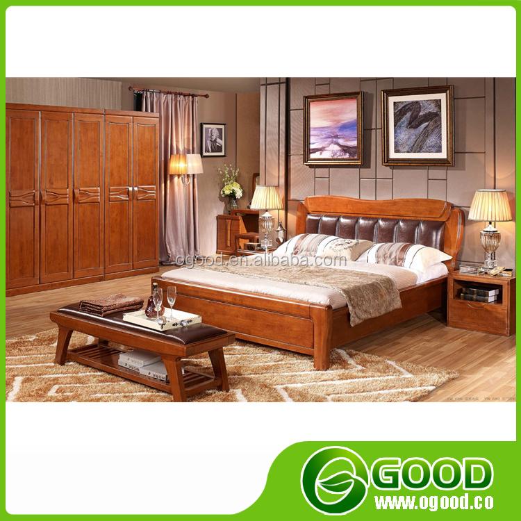 Modern Rubber Solid Wood Bedroom Furniture Set Buy Solid