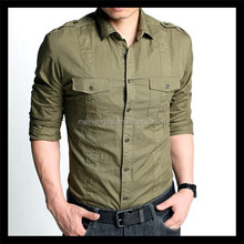 new style classical style all-match man long sleeve shirt with sleeve band