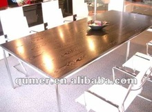 Top quality glass top meeting table with build-in wire management