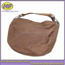 Cheap Brown Fashion Korean Plain Shoulder Women's Bag with Zipper Wholesale Supplier