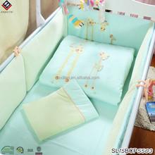 Deer baby bedding sets green color beby cribs bedding sets