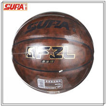 laminated pu basketball/good quality basketball for training and professional