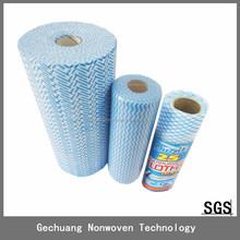 100% viscose Reusable spunlace cleaning cloth /rag 25pcs/roll 20*40cm