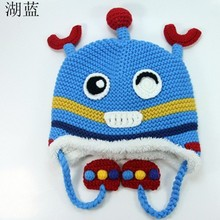 China manufacturer Wholesale 100% acrylic custom funny knitted winter hats