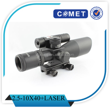 2015 HOT SALE! 2.5-10x40E with laser riflescope,optical riflescope, track riflescope for hunting