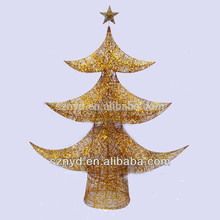 12 inch yellow artificial mini christmas tree