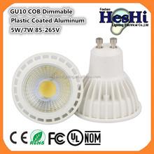 5W GU10 COB LED Spotlight Bulb Aluminum Body Material Daylight Halogen Bulb Replacement
