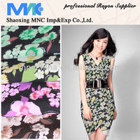 2014 fashion new rayon fabric printed with metallic