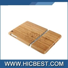 Bamboo Case with engraved Pattern/Logo for iPad mini 1 / 2 / 3