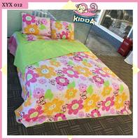 Microfiber quilt/bedspread Colorful flowers bedding set