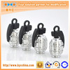 BYC Unique Car Accessories Amazing Hand Grenade Shape Tire Valve Caps Silver