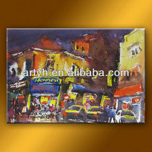 Prosperous abstract city painting oil art for wholesale