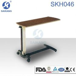 SKH046 Hospital overbed table with wooden top