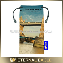 Advertising microfiber glasses bags, printed sunglasses, drawstring pouches