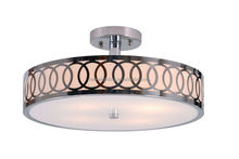 Stainless Steel ceiling lamp for hotel Brushed Nickel