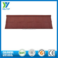 Red stone flat residential zinc steel roofing sheets weight
