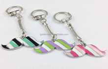 New arrival 2015 father's day facvors super cool sexy Moustache Keyring Metal Promotions
