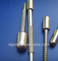 nickel plated brass knurled dowel pin