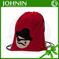 Hot selling custom printed pirate drawstring bag