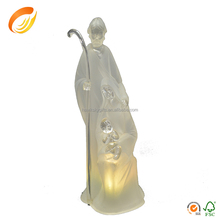 Best Popular in EU Polyresin child holy family with light for religious decor