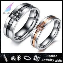 2014 alibaba hot selling stainless steel cheap fake wedding rings