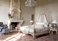 French Provincial Bedroom Set/Hortense Stylish Retro Four Poster King Size Bed/Tradition French Palace Wooden Bed