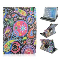 New Mysterious Underwater World Rotate Stand PU Tablet Leather Case With Elastic Belt For Apple iPad 2 3 4, ipad air, ipad mini