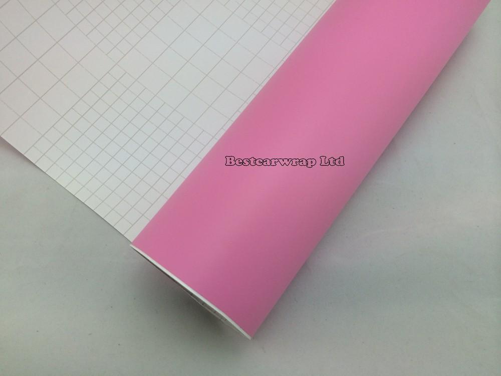pink matt vinyl car wrapping film matte wrap sheets (3)
