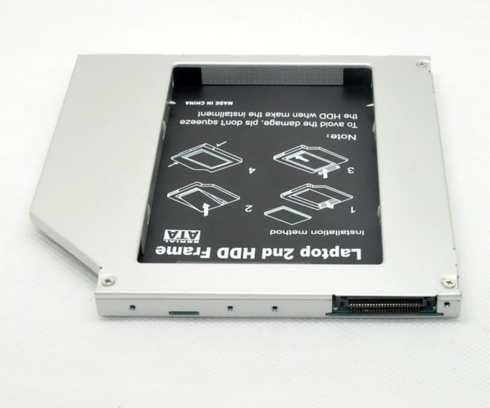 новый 2-й ssd hdd caddy superdrive для macbook pro pata/ide начале 2008 не цельным 9,5 мм