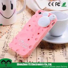 Mickey Mouse cheese silicone cute case for samsung galaxy s3 s4