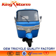 China Bajaj Auto Rickshaw 110CC/175CC/200CC Passenger Tuk Tricycle cng 3/Three wheel electric car