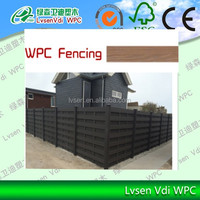 145*9.5mm fence panel for European Market Fencing Aluminum Frame Wood Plastic Composite Board WPC Garden Fence, Outdoor WPC Fen