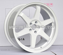 Hot Sale volk Rays TE37 Alloy Wheels With White Surface