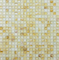 Light BROWN antiguo azulejo de mosaico de vidrio con CLOUD efecto
