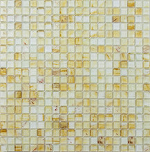 LIGHT BROWN ANTIQUE GLASS MOSAIC TILE WITH CLOUD EFFECT