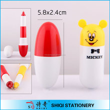 nice korea cartoon retracted pill shaped pen