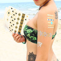 hot sale flash female glitter body sexy permanent airbrush tattoos